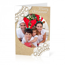 A5 Lace Christmas Card
