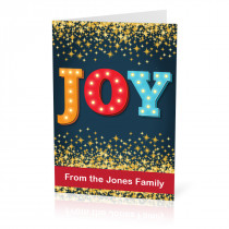 A5 Joy Christmas Card