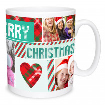 Merry Christmas Photo Collage Mug