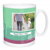 Father's Day Bike Photo Mug