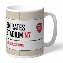 Arsenal FC Street Sign Mug