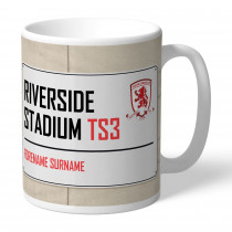 Middlesbrough FC Street Sign Mug