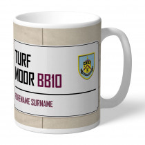 Burnley FC Street Sign Mug