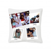 "18"" Family Portrait Square Photo Cushion"