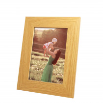 Harriet Light Wood Engravable Photo Frame with Print
