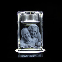 3D Candle Holder Photo Crystal