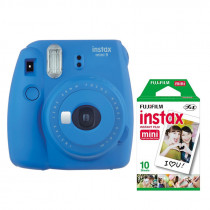 Fuji Instax Mini 9 Camera including film  - Cobalt Blue