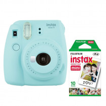 Fuji Instax Mini 9 Camera including film  - Ice Blue