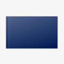 Medium Landscape Photo book with Blue Linen Cover