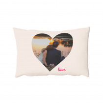"13"" x 19"" Love Heart Oblong Photo Cushion"