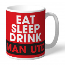 Manchester United FC Eat Sleep Drink Mug