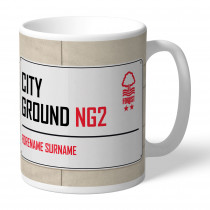 Nottingham Forest FC Street Sign Mug