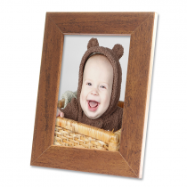 Harriet Rustic Wood Engravable Photo Frame with Print