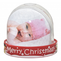 Merry Christmas 3D Snow Dome