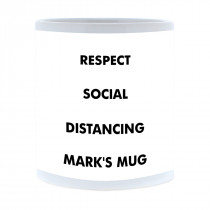 Social Distancing Mug With Right Aligned Image