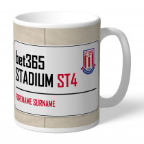 Stoke City FC Street Sign Mug