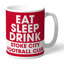 Stoke City FC Eat Sleep Drink Mug