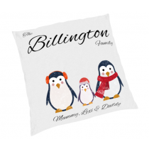 24inch Penguin Family Christmas Cushion