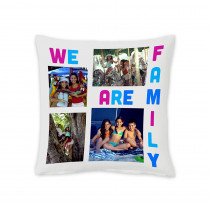 "18"" We Are Family Square Photo Cushion"