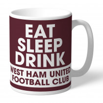 West Ham United FC Eat Sleep Drink Mug
