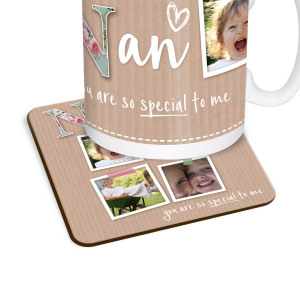 Nan Scrapbook Photos Coaster