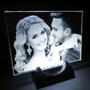 2D Flat Photo Crystal and Stand