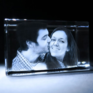 3D Rectangle Photo Crystal