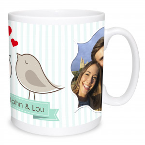 Two Birds Kissing Mug