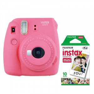 Fuji Instax Mini 9 Camera including film  - Flamingo Pink