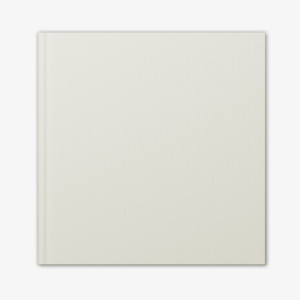 Large Square Photo Book with Faux White Leather