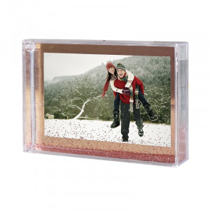 Rose Gold Glitter Photo Frame with Print