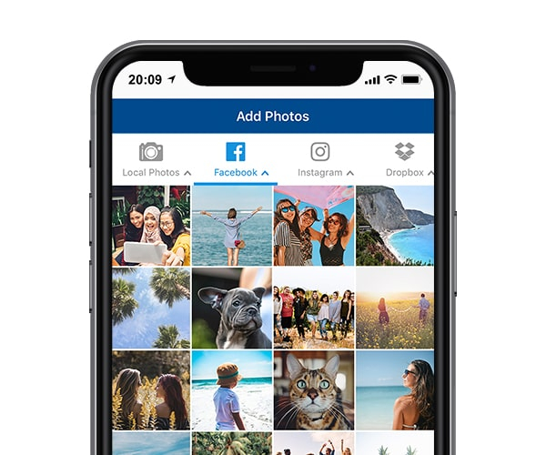 Photo printing app products